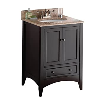 Foremost Beca2421d Berkshire 24 Inch Espresso Bathroom Vanity