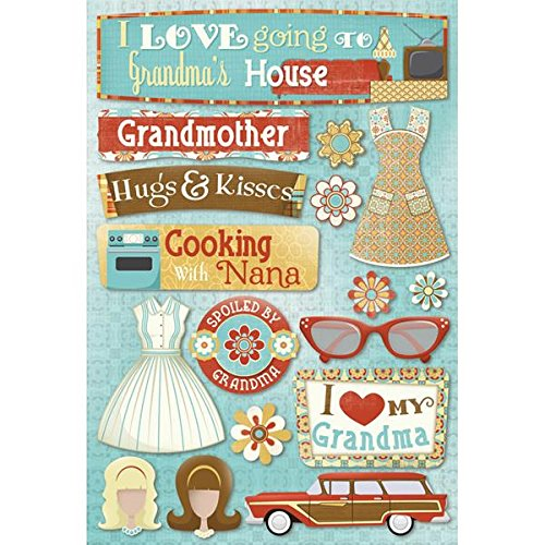 KAREN FOSTER Design Acid and Lignin Free Scrapbooking Sticker Sheet, Classic ()