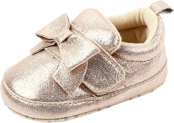 Toddler Girl Crib Shoes Newborn Baby Leather Soft Sole Prewalker Sneakers 0-18M