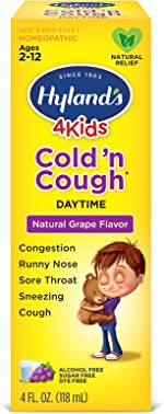 Cold Medicine for Kids Ages 2+ by Hylands, Cold and Cough