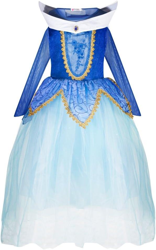 Katara 1772 - Disfraz de Princesa Aurora Bella Durmiente - Niñas 4-5 Años, Azul