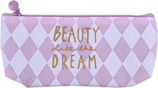 Winwinfly Pochette pour femme en toile, porte-monnaie, sac à crayons, fournitures de bureau, papeterie pour étudiants,Rayures diagonales