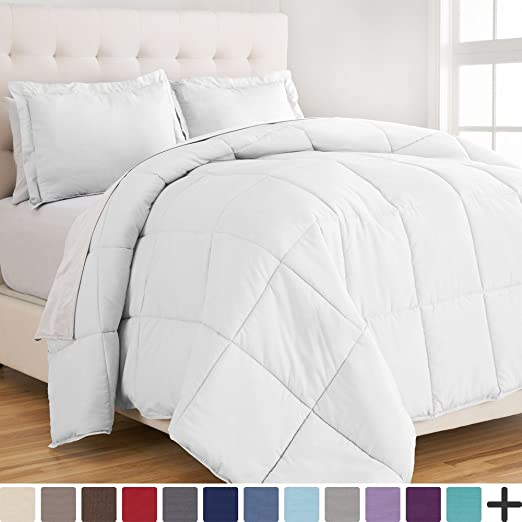 Amazon.com: Ultra-Soft Premium 1800 Series Goose Down Alternative Comforter - Duvet Insert - Hypoallergenic - All Season - Plush Fiberfill, Twin Extra Long (Twin XL, White): Home & Kitchen