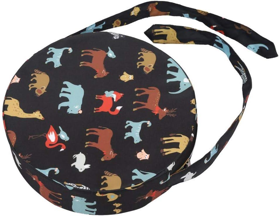 Rameng Coussin de Chaise Rond Coussin de Chaise Enfant Antid/érapage Rehaussement Eponge Confortable pour Enfant /à Manger A