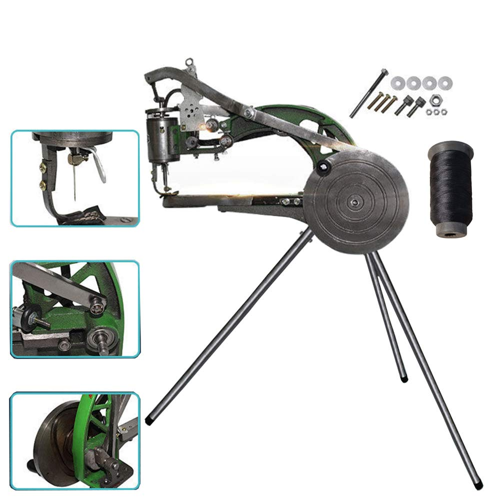 FISTERS Hand Machine Cobbler Shoe Repair Machine Dual Cotton Nylon Line Sewing Machine by Pumplus