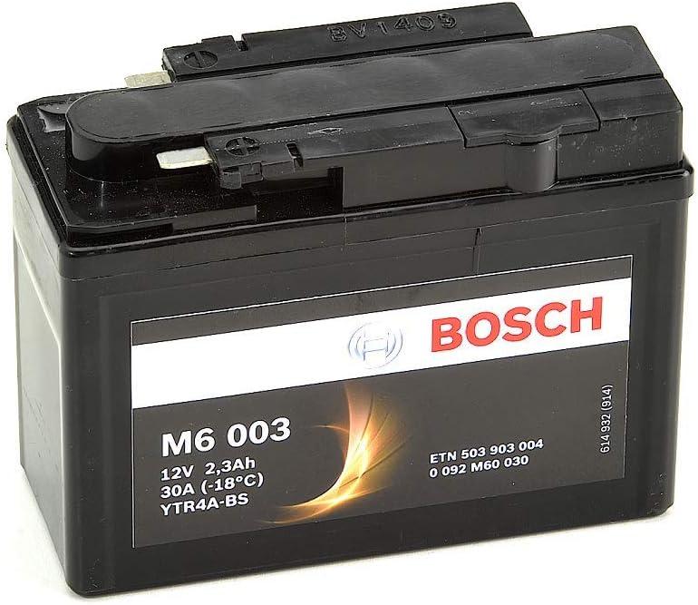 Bosch M6003 Bater/ía motocicleta YTR4A-BS 12/V AGM 3A//h-40A