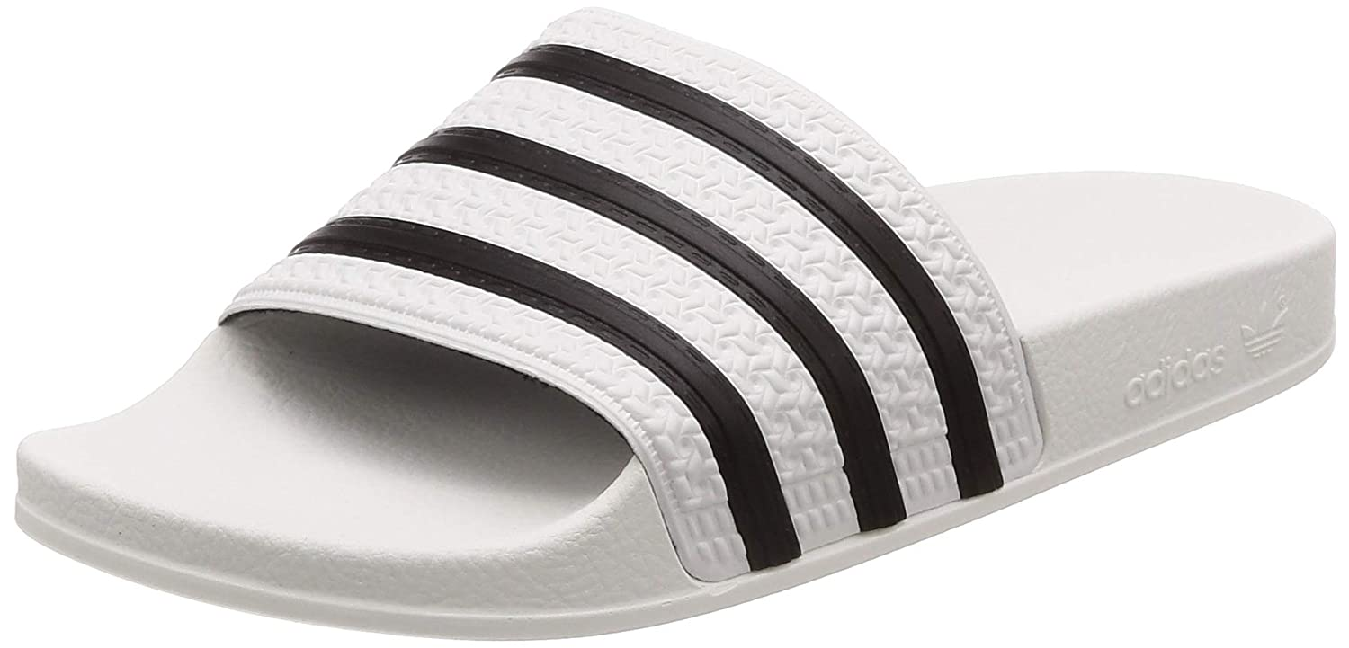 adidas Originals Adilette Slip On Slides Herren, Gold Real Gold S, Core Black, Real Gold S Größe: 47