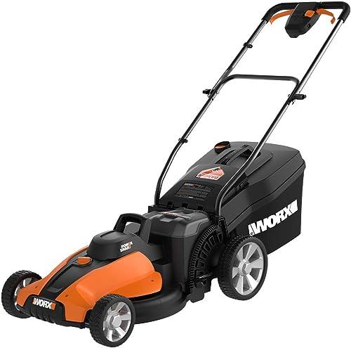 WORX WG744 40V Power Share 4.0 Ah 17 Lawn Mower w Mulching 2x20V Batteries ,Orange