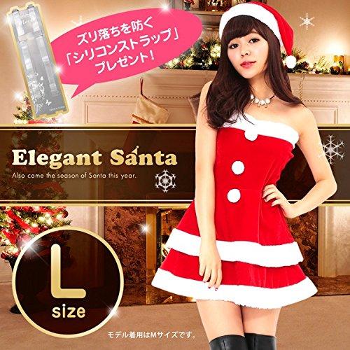 19fbdbba72c4f サンタ 大きいサイズ セクシー  Peach×Peach エレガントサンタクロース チューブトップ Lサイズ  サンタ