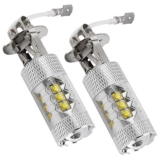 2 opinioni per NuoYo 2*H3 LED 6000k LED Lampada Per Fari Antinebbia Auto, 35W12V 800LM LED