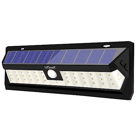 ieGeek Lámpara Solar 42 LED, luz con energía solar exterior impermeable IP65 con sensor de