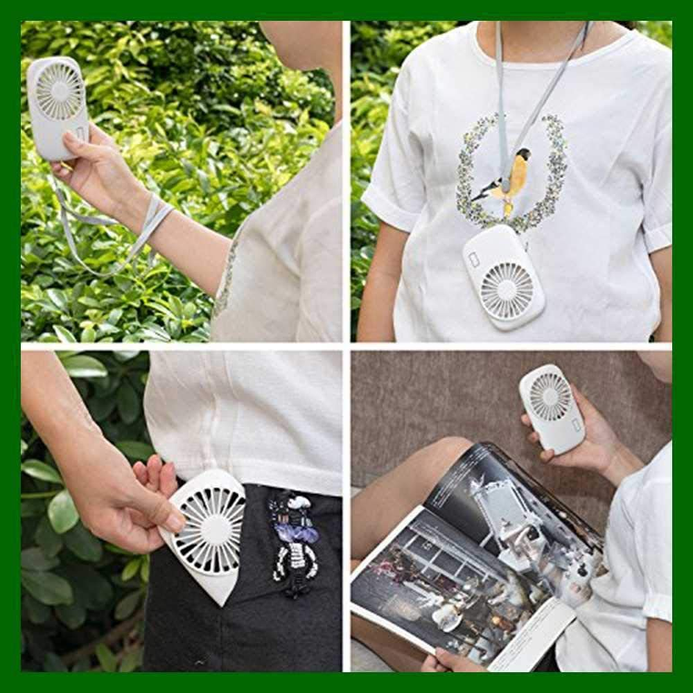 WWX Handheld Fan Mini Powerful Small Personal Portable Speed Adjustable USB Recharge