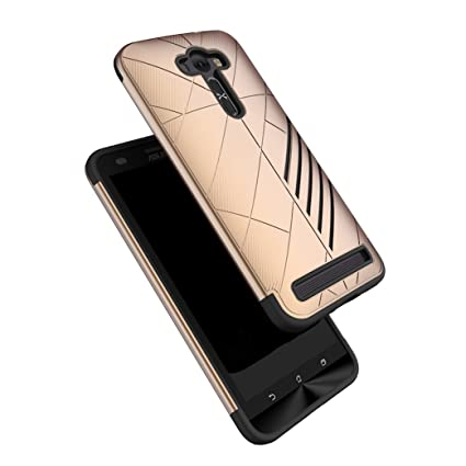 promo code 0f3cd dc380 Bounceback® for Asus Zenfone 2 Laser ZE551Kl Shockproof Dual Layer Hybrid  Back Case Cover (Gold Black)