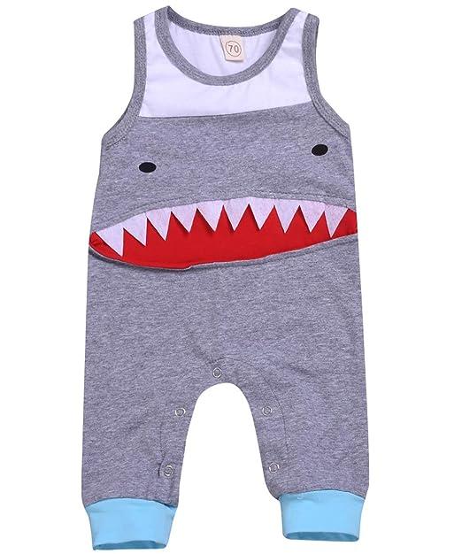 Amazon.com: Conjunto de ropa de verano para bebé, sin mangas ...