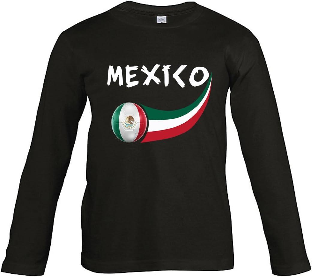 Supportershop – 8 Camiseta México L/S niño 8 para niño, Negro, FR: L (Talla Fabricante: 8 años): Amazon.es: Deportes y aire libre