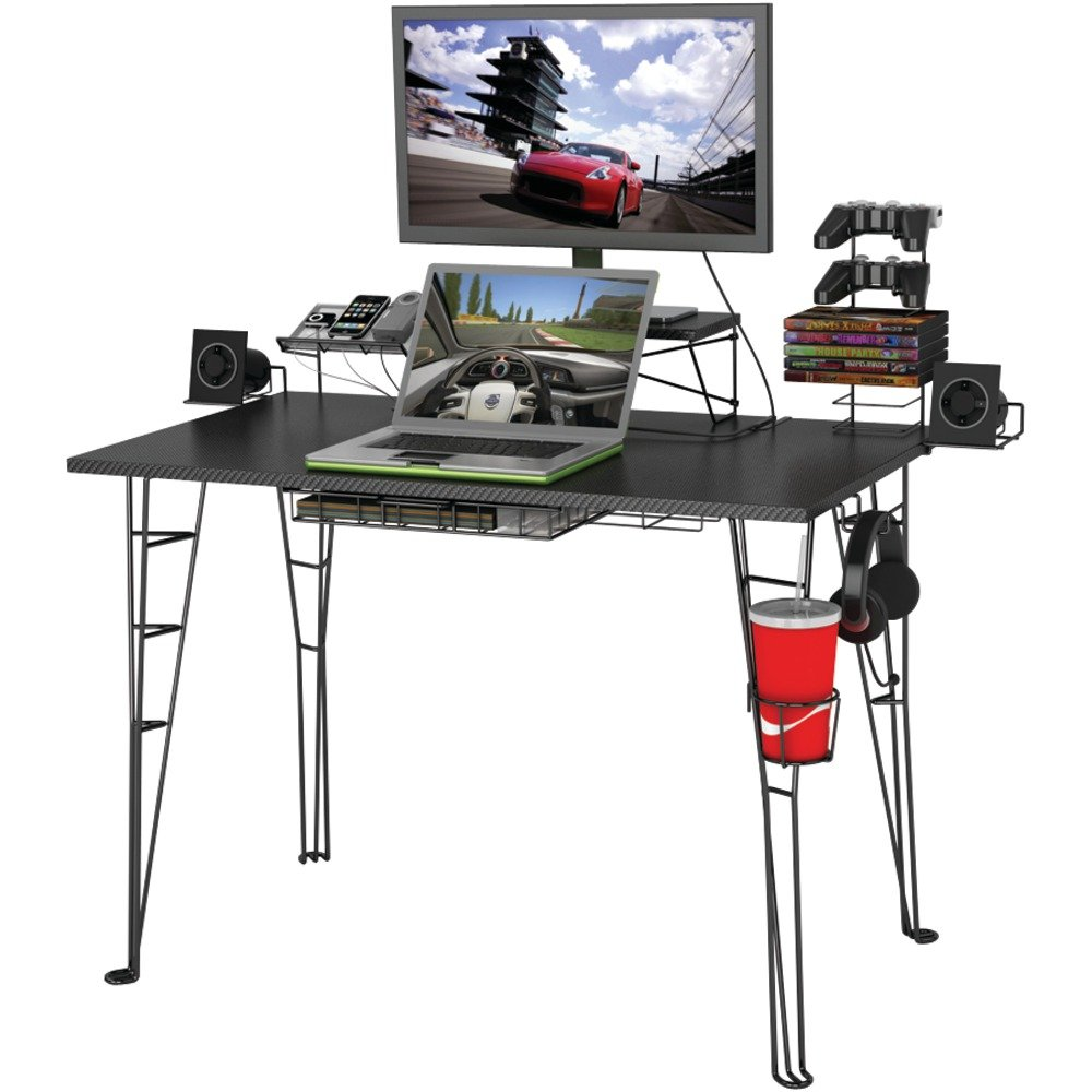 amazoncom atlantic gaming desk not machine specific kitchen u0026 dining home office computer