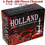 6 Quantity – Box of 100pcs Disk Coal Holland Easy Quick Lighting Charcoal for Hookah -33mm TOTAL 600pcs