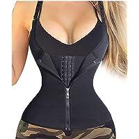 Slagon Women's Zipper Body Shaper Slimming Vest Waist Trainer Abdomen Corset Three-breasted Body Shaping Underwear
