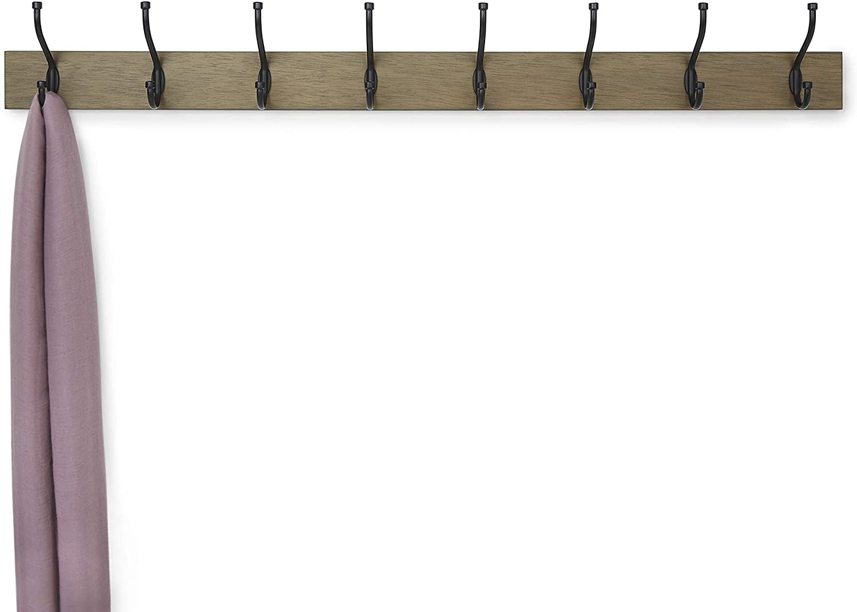 Perchero de madera de pared Madera noble Basics 8 ganchos est/ándar 92 cm