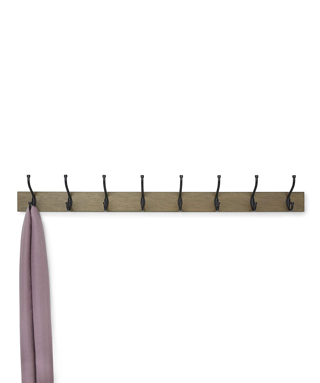 8 Standard Hook Basics Wall Mounted Coat Rack Barnwood