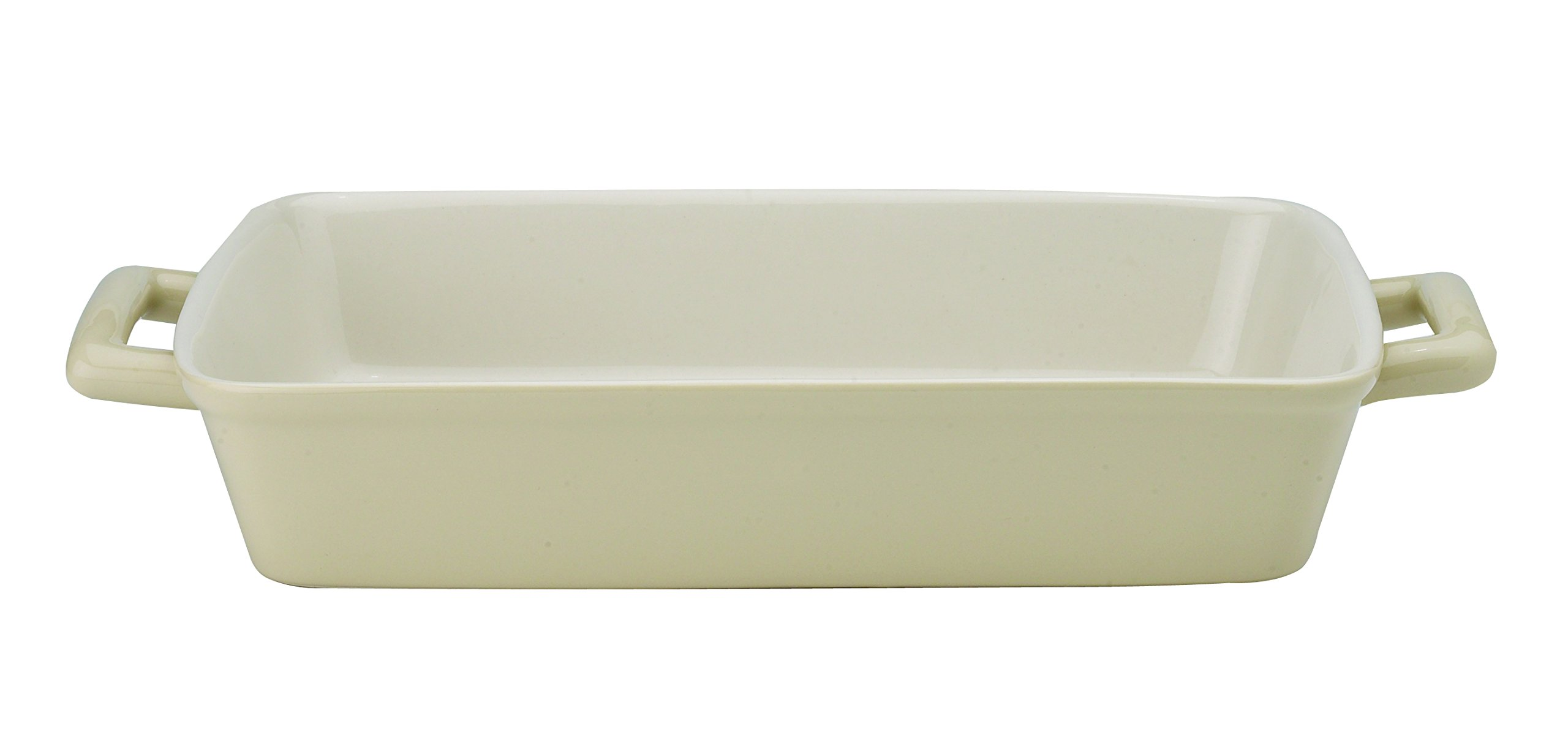 Mrs. Anderson's Baking Oblong Rectangular Baking Dish Roasting Lasagna Pan, Ceramic, Wheat, 13-Inches x 9-Inches x 2.5-Inches