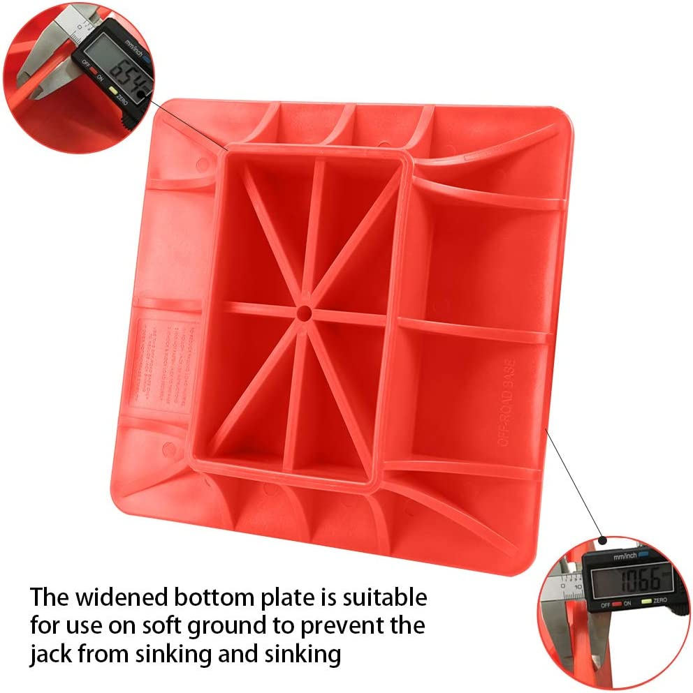 Tbest ABS Off-Road Base Snow Farm Off-Road Base Lifting Jack Surface Pad for Hi Lift Jacks to Alleviate Jack Hoisting Sinkage On Sand and Other Soft Ground Mud