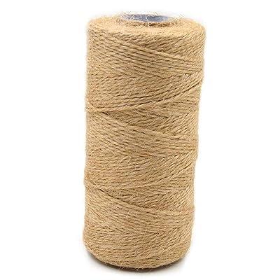 0.2mm 100m Jute Rope Natural Craft Wrapping Cord DIY Hemp Thread Scrapbook Burlap Fiber String Roll for Gift Decor Handicraft : Garden & Outdoor