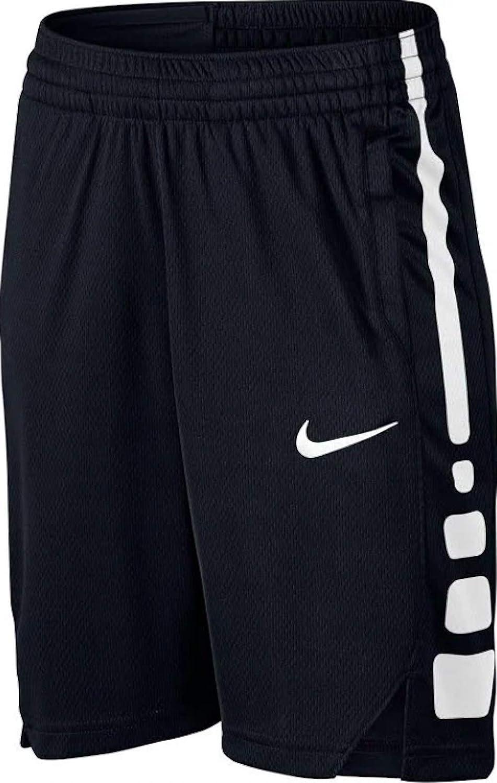 Nike Boys' Elite Stripe Short (Little Big Kids) (Small, Black/Black-White): Clothing