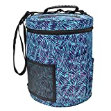 Whitelotous Knitting Storage Barrel Bag Totes Easy To Carry for Crochet Hook Yarn Sewing Pouch High Capacity Home Organizer(Blue)
