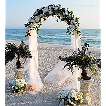 Amazon Com Tytroy White Metal Outdoor Indoor Arch Wedding Party