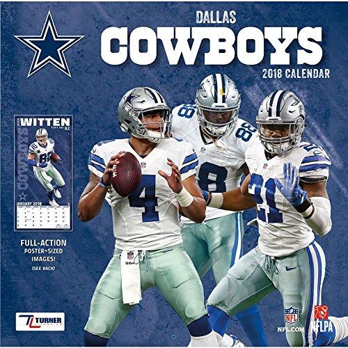 Dallas Cowboys 2018 Calendar cover