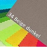 OXFORD 600D couleur 34/ tissu polyester beige foncé 1 lfm OUTDOOR étanche très résistant PVC vendu au mètre toile de voile, tente, sac à dos