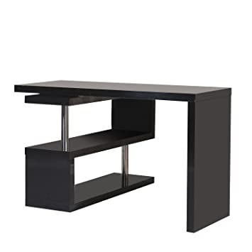 office desk with shelf. homcom rotating office desk and shelf combo black with k
