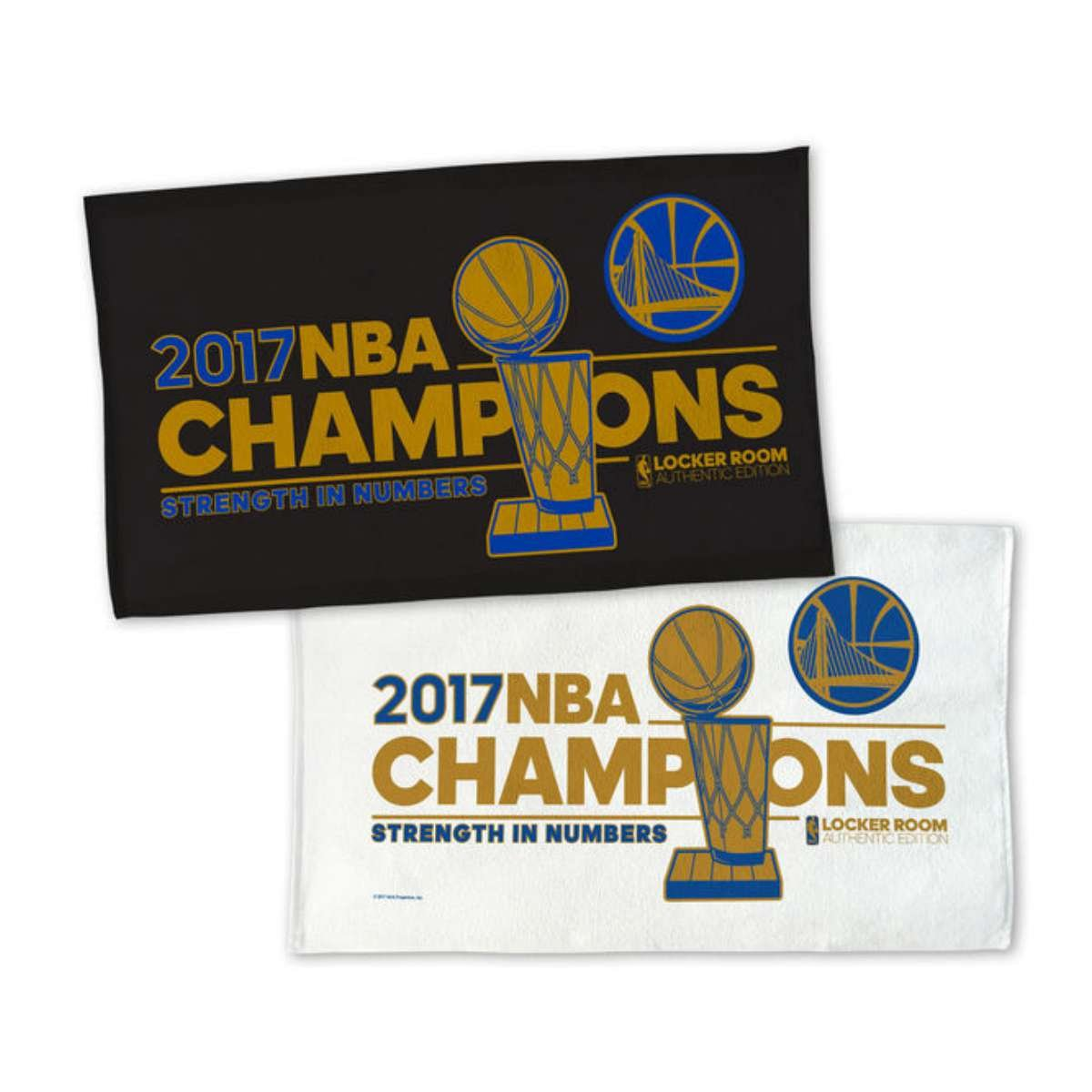 WinCraft Golden State Warriors 2017 NBA Finals Champions 2-Sided Locker Room Towel