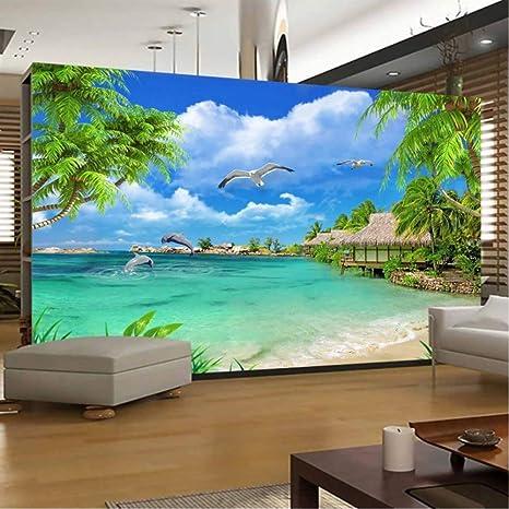 Marvelous Amazon Com Pbldb 3D Photo Wallpaper Beach Sea View Coconut Pdpeps Interior Chair Design Pdpepsorg