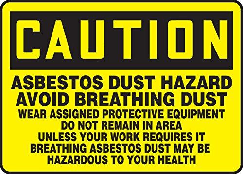 Asbestos Dust Hazard Avoid Breathing Dust Wear Ass 10X14 .125 Polycarbonate Sign