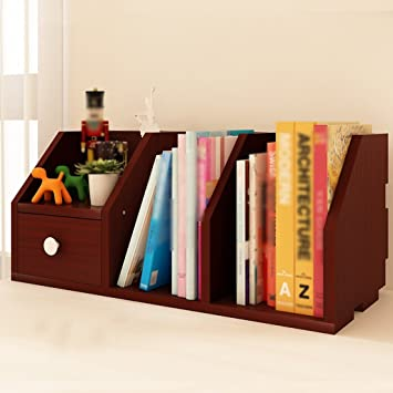 TH Simple And Modern Bookshelf Creative Desktop Shelf Desk Storage