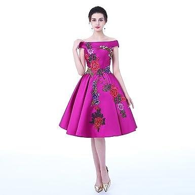 Dongcmy 2018 New Arrival Evening Plus Size Lace Up Purple Color