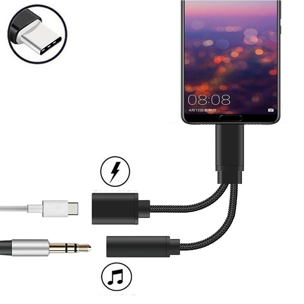 USB C Tipo C Port Jack Cuffie 3.5 mm Audio Jack Adattatore per Huawei Mate 10 Pro, Huawei P20/P20 Pro, Moto Z/Z Force/Z2 Force e Xiaomi 6/Note 3 BENDUN ADTRIPt001