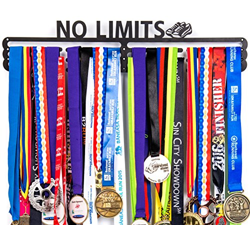 Urban Active Sports Medal Holder + No Limits + Medal Display for 60+ -