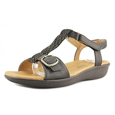 Women's Clarks, Manilla Lift Low Heel Sandal BLACK 5.5 M