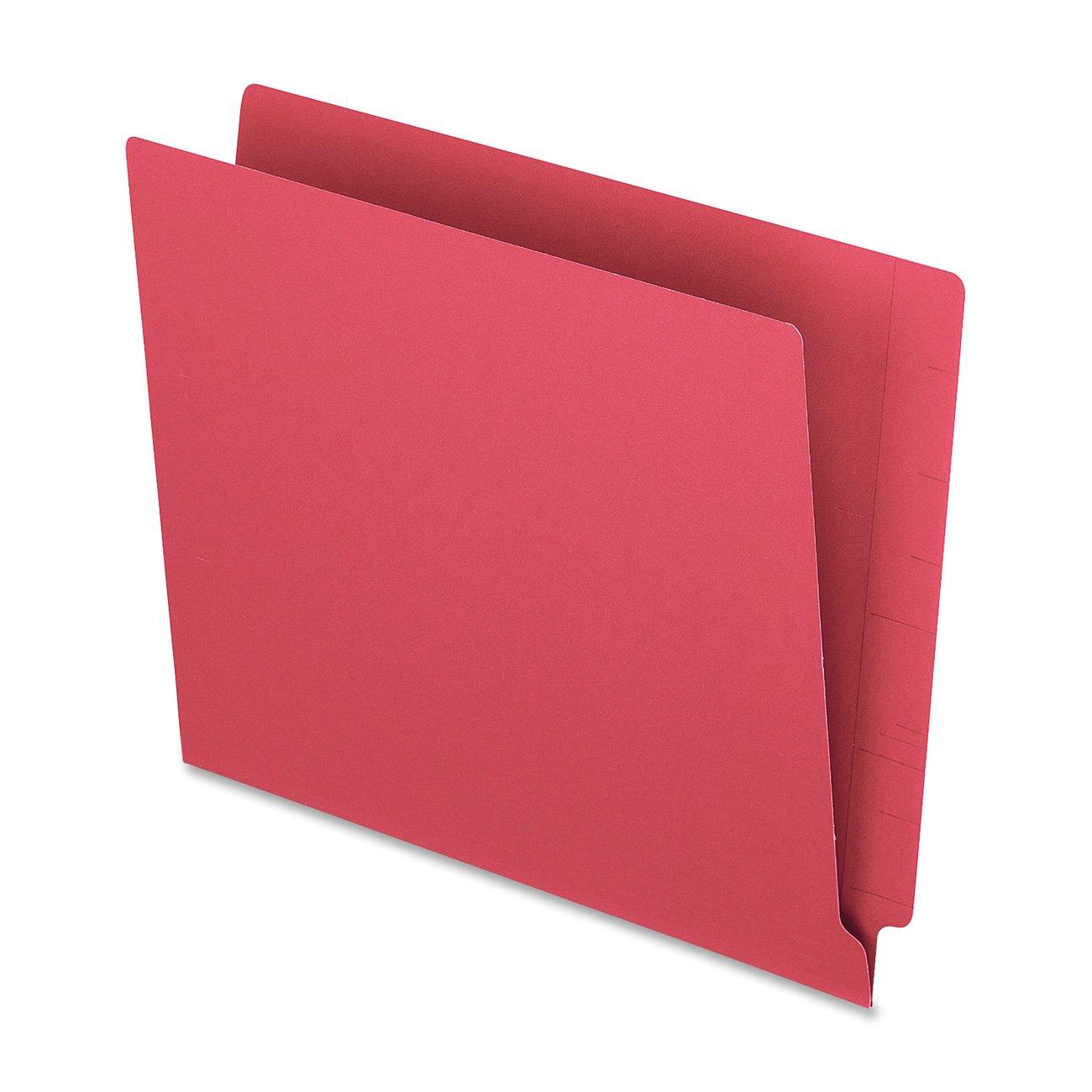 Pendaflex Colour End Tab Folders, Full Tab, Letter, Red, 100/Box Esselte H110DR
