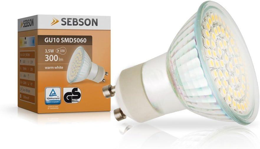10er LED Leuchtmittel GU10 LED Energiespar-Lampe 1.5 W Warm//Kaltweiß 3000K SPOT