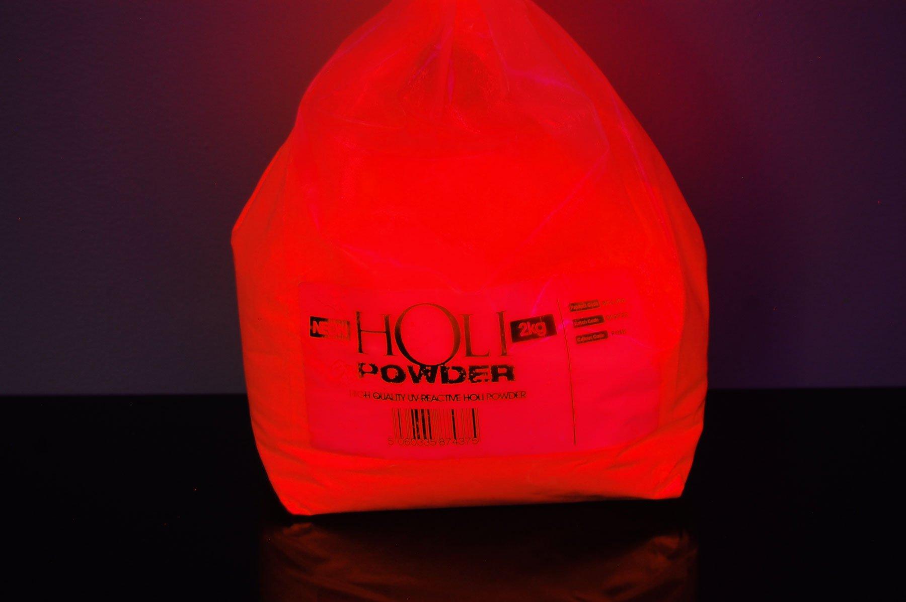 DirectGlow UV Blacklight Reactive Holi Powder 4.75lbs (UV Red)