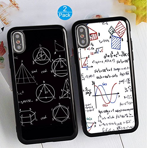 iPhone X/10 Case Soft TPU Case Bumper Cover Case Mathematical Formula Fashion Matching Couple Cases for Mom Best Friends or Lover for iPhone X/10