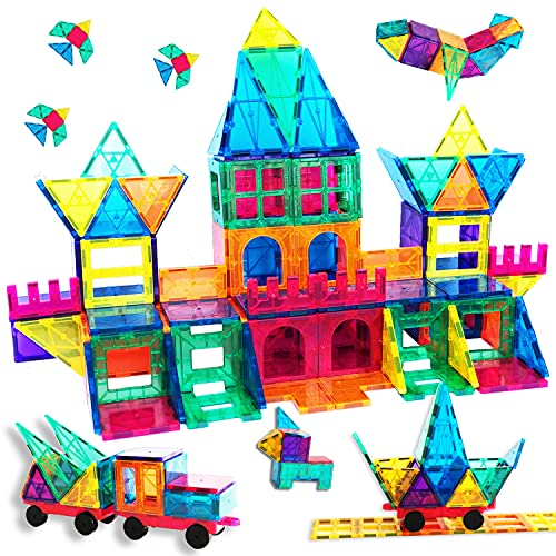 TalentGifts 120PCS Magnetic Tiles; Cognitive Learning Building Toys;...