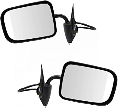 Manual Side View Mirror LH Left Driver Side for 94-97 Dodge Ram 1500 2500 3500