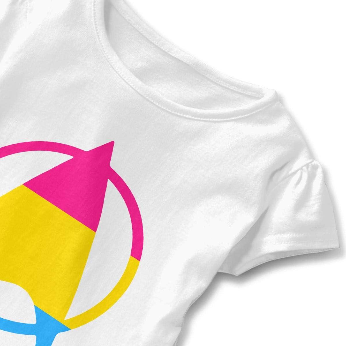 26NSHIRT Pansexual Starfleet Pride Baby Girls Short Sleeve Graphic Tee