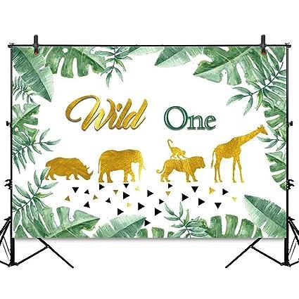 Amazon Com Allenjoy 7x5ft Jungle King Wild One Backdrop Golden