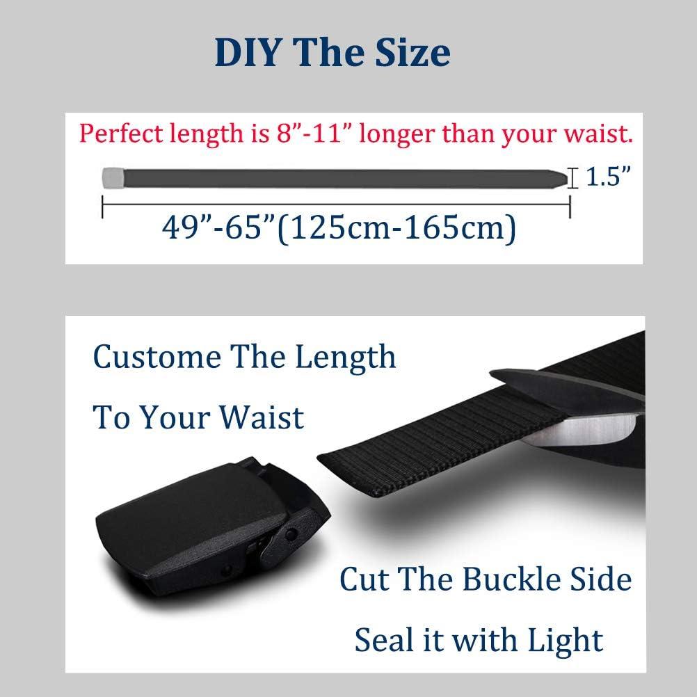 KEEPGOO Web Belt,Plus Size 47-65 Mens Tactical Military Nylon Belt Big and Tall